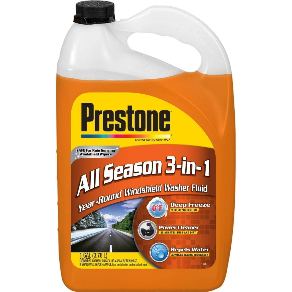 Windshield Wiper Fluid That Works in Negative winter Temperatures  during a winter emergency