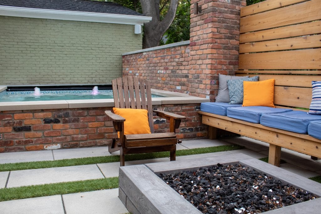 Ventures outdoor chill space.